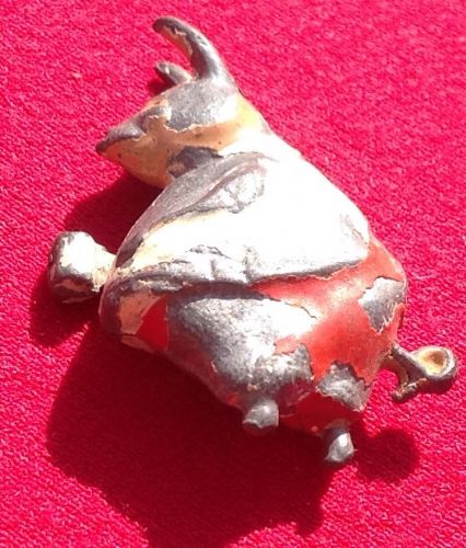 "Original 1934 Cococub figure Piglet Pig "" Red and White "" ( both feet missing but tail is complete )"